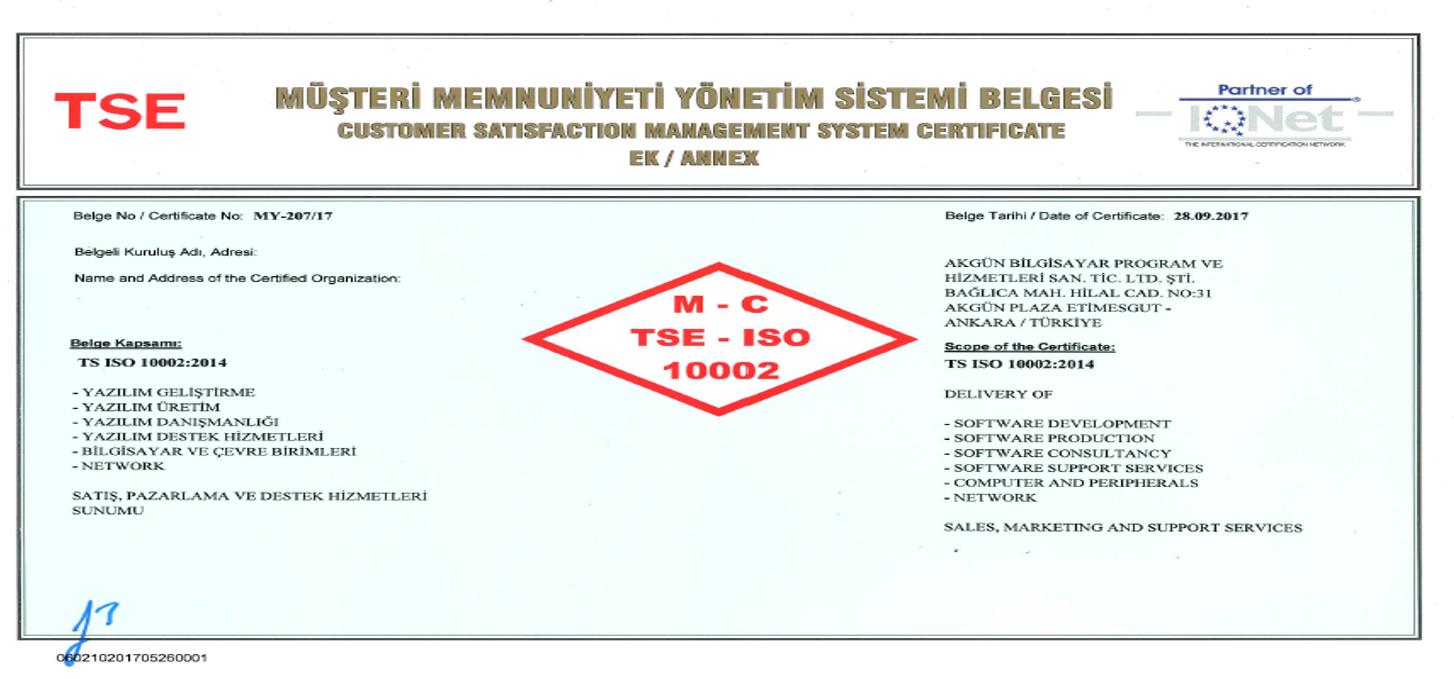 AKGÜN'den Bir İlk Daha: ISO 10002 Müşteri Memnuniyeti Yönetim Sistemi Belgelendirmesi